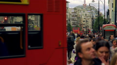 LONDON - OCTOBER 8: Bustling Oxford Street on October 8, 2011 in London. Stock Footage