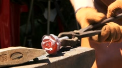 Forged Iron Rosa Stock Footage