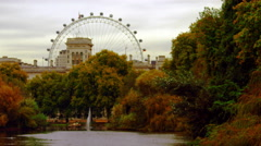 The London Eye from Saint James Park Stock Footage