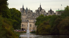 Horse Guard building from Saint James Park Stock Footage