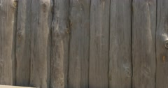 Palisade, Logs Closeup, Short Video, Shaking Camera Stock Footage