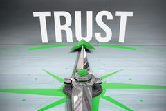 Trust against bleached wooden planks background Stock Illustration