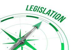Legislation against compass Stock Illustration