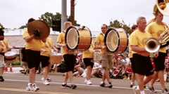 Slow Motion marching band Stock Footage