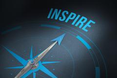 Inspire against grey background - stock illustration