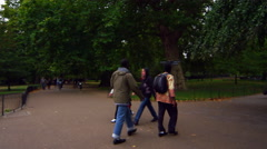 LONDON - OCTOBER 8: People in Saint James Park on October 8, 2011 in London. Stock Footage