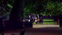 Saint James Park and people Stock Footage