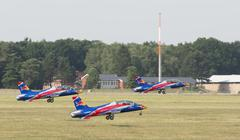 Remote Jets at an airshow - stock photo