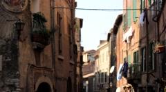 Tivoli, Italy Street Stock Footage
