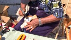 Making Hand Made Shoes, France - stock footage