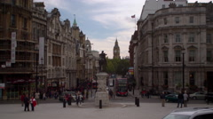 Big Ben view from traffic of Charing Cross Stock Footage