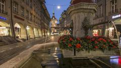 Old Town of Bern Time Lapse Stock Footage