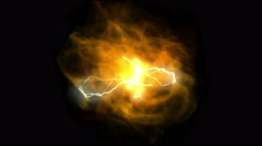 4k Fireball power energy lightning,science technology,smoke particles explosion Stock Footage