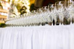 Several wine glasses Stock Photos