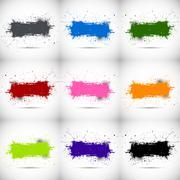 Grunge backgrounds - stock illustration