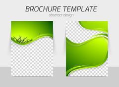 Green grass wave brochure Stock Illustration