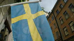 National Flag of Sweden Stock Footage
