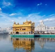 Stock Photo of Sikh gurdwara Golden Temple (Harmandir Sahib). Amritsar, Punjab, India