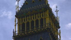 Stationary Big Ben upper part close-up Stock Footage