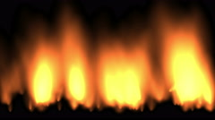 4k Gas stoves,Hot Fire burning background,Abstract particle smoke power energy. Stock Footage