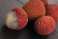 Fresh lychee Stock Photos