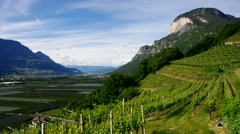 Trentino, landscape in northern Italy Stock Footage