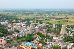 Stock Photo of Lord Bhakthavatsaleswarar Temple. Built by Pallava kings in 6th century.