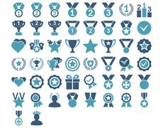 Competition and Awards Icons Stock Illustration