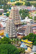 Gopura ( towers) of  Lord Bhakthavatsaleswarar Temple. Built by Pallava kings Stock Photos