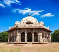 Isa Khan Tomb in Humayun's Tomb Complex. Delhi, India Stock Photos