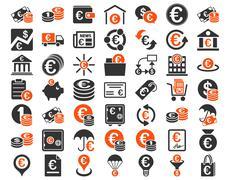 Euro Banking Icons - stock illustration