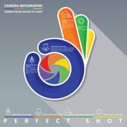 Perfect shot infographic Stock Illustration