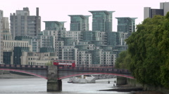 Stationary of Lambeth Bridge - stock footage