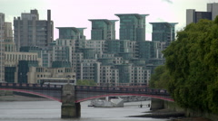 Traffic on Lambeth Bridge - stock footage