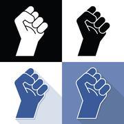 Fist revolution symbols Stock Illustration