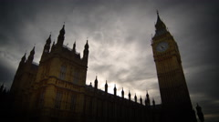 Time-lapse of clouds over Westminster and Big Ben - stock footage