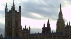 Westminster Palace and sky Stock Footage