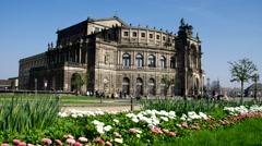 Dresden, the Semperoper building Stock Footage