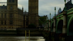 Big Ben from bottom-up Stock Footage