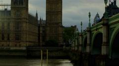 Camera moving upwards on Big Ben Stock Footage