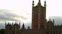 Westminster Palace and Big Ben panorama Stock Footage