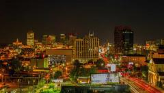 Stock Video Footage of Day to night time lapse of Nashville skyline