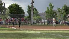 Softball Game small rural community 4K Stock Footage
