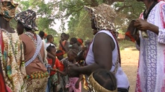 Feast and tradition Diola in casamance senegal Stock Footage