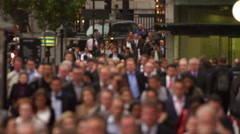 Businesspeople on a busy street in London Stock Footage