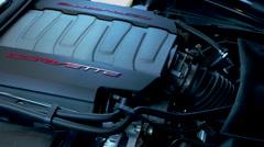 2015 Corvette Stingray Engine - stock footage