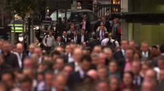 Street rush-hour in London - stock footage
