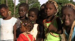 Learning for the young Diola of the senegal initiation rite Stock Footage
