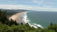 Stock Video Footage of The Vast Oregon Coast High Vista