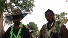 Feast dance and tradition Diola in casamance senegal Stock Footage